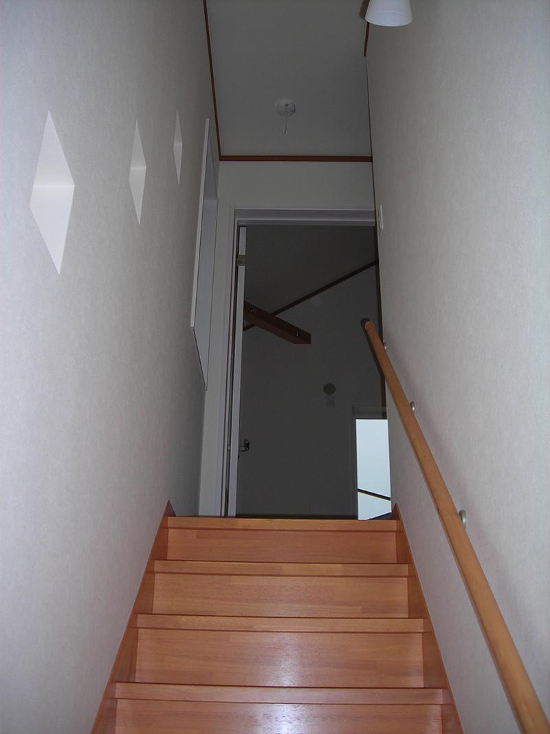 下から上階を見る
