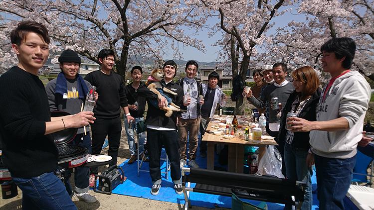 桜満開、快晴のお花見日和