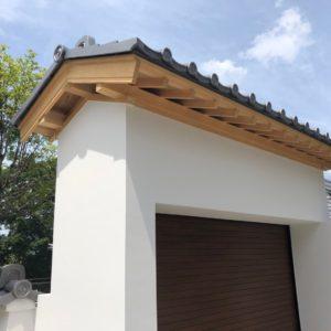 エクステリア 京都市 清水寺 駐車場、門柱等の新設工事