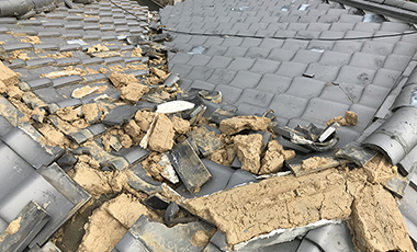 大阪直撃 台風被害 台風21号被害に伴う工事