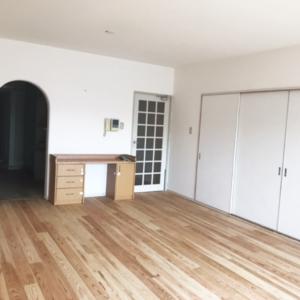 マンションリフォーム 大阪府吹田市 M様邸 子供や生活による無垢杉板床の劣化を復旧