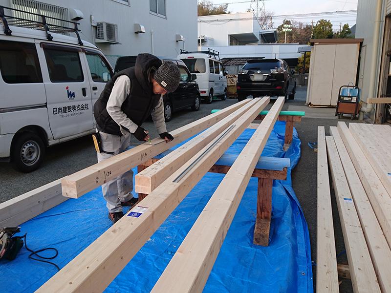 【大工の日常】木材のカット作業