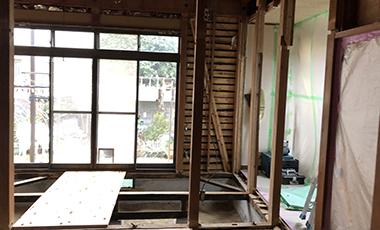 【進行中の現場】戸建リフォーム 大阪府箕面市 M様邸 地震や台風被害による改修、耐震補強、外壁塗装
