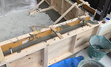 【進行中の現場】戸建リフォーム 大阪府箕面市 K様邸 コンクリート打設・壁下地の作成