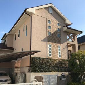 戸建リフォーム 大阪府箕面市 S様邸 台風21号被害による屋根(応急処置)、外壁塗装工事