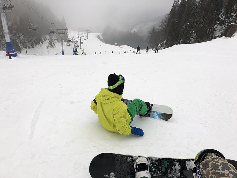 スノーボードの様子