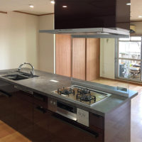 マンションリフォーム 大阪市阿倍野区 I様邸 閉鎖的だったキッチンをアイランドキッチンへ