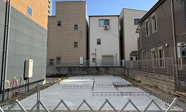 大阪市城東区 T様邸 WSハイブリッド工法 配筋・コンクリート打設・埋め戻し