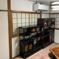 戸建てリフォーム 大阪府東大阪市 T様邸 和室の土壁部分と竿縁天井をクロス仕上にする改修工事
