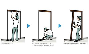 【商品紹介】LIXIL しまえるんですα 玄関勝手口用網戸