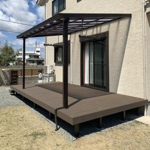 エクステリア 兵庫県加古川市 M様邸 人工木でウッドデッキを施工