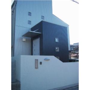 新築・木造住宅 大阪府堺市O邸 ~ シルバーとブルー2色のシンプルな外観